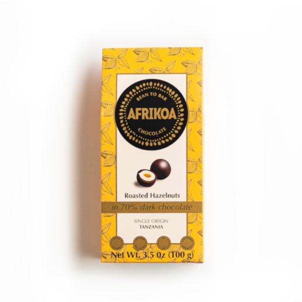 Roasted Hazelnuts in 70% Dark Chocolate