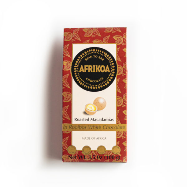 Roasted Macadamias in Rooibos White Chocolate